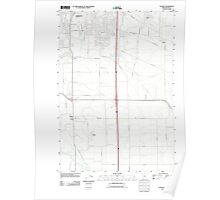 USGS Topo Map Oregon Tangent 20110831 TM Poster