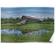 Collapsed Alberta Barn Poster