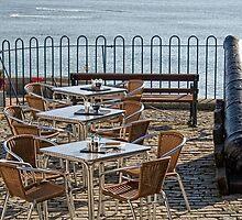 Outdoor Cafe - Lyme Regis by Susie Peek