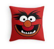 Animal Muppet (Orange Lips&Nose) Throw Pillow