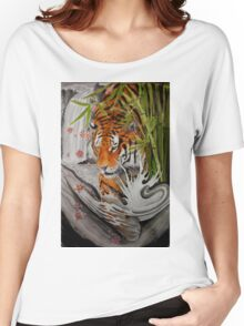 Tiger and waterfall Women's Relaxed Fit T-Shirt
