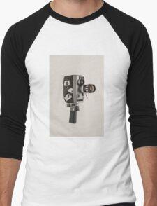 Retro Cine Camera Men's Baseball ¾ T-Shirt