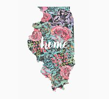Floral Illinois State Tank Top