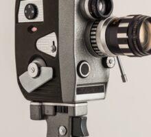 Retro Cine Camera Sticker