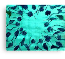 Blue abstract,floral, watercolor Canvas Print