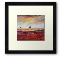 Oil Rigs on the Horizon Framed Print