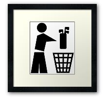 Bin your golf bag Framed Print