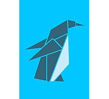 Origami Penguin Illustration Photographic Print