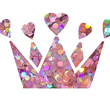 Pretty Pastel Glitter Queen of Hearts by staysalty