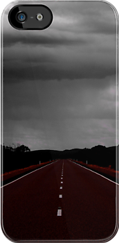 The road to rain - iphone case by Penny Kittel