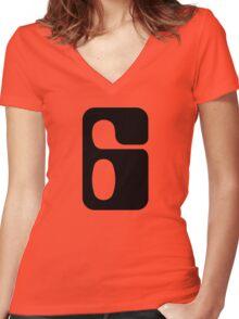 Houston!  Number 6!  Jonathan! Women's Fitted V-Neck T-Shirt