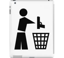 Bin your guns iPad Case/Skin