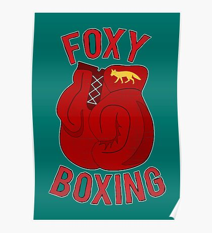 Foxy boxing Poster