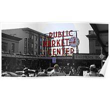 Seattle Public Market Center Poster