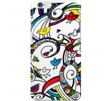 Birds Doodle Case White iPhone Case/Skin