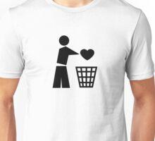 Bin your heart Unisex T-Shirt