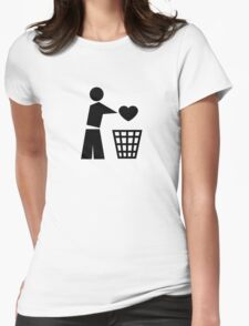 Bin your heart Womens Fitted T-Shirt