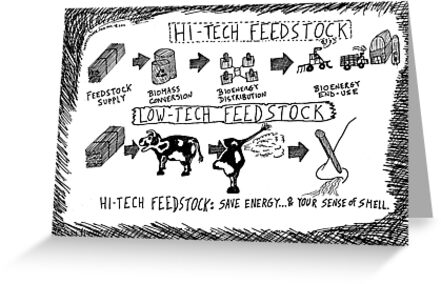 Hi-Tech vs. Low-Tech Feedstock cartoon by bubbleicious