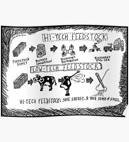 Hi-Tech vs. Low-Tech Feedstock cartoon Poster