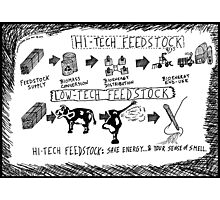 Hi-Tech vs. Low-Tech Feedstock cartoon Photographic Print