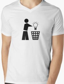 Bin your ideas Mens V-Neck T-Shirt