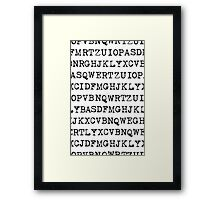 Old typewriter letters Framed Print