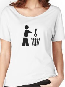 Throw away the key Women's Relaxed Fit T-Shirt