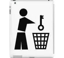 Throw away the key iPad Case/Skin