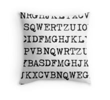 Old typewriter letters Throw Pillow