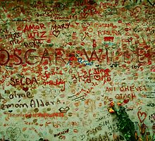 Tomb of Oscar Wilde, Paris France by Louise Fahy