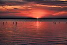 Sunset Gone Red by Carolyn  Fletcher