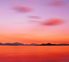 Red Night over the Lake by David Alexander Elder