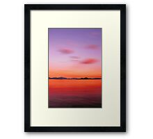 Red Night over the Lake Framed Print