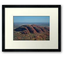 The Olgas from the Sky Framed Print