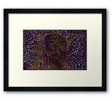 Albert Hofmann psychedelic portrait Framed Print