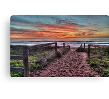 Daybreak - Newport Beach,Sydney Australia - THe HDR Experience Canvas Print
