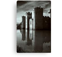 Bodiam Castle mono Canvas Print