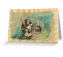 Feed your monster, he loves you Greeting Card