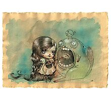Feed your monster, he loves you Photographic Print