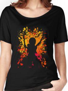 attack on titan mikasa ackerman paint splatter anime manga shirt Women's Relaxed Fit T-Shirt