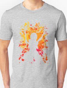 attack on titan mikasa ackerman paint splatter anime manga shirt T-Shirt