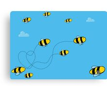 Bees! Canvas Print