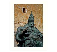 El Papa Luna - Peniscola Art Print