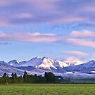 Dawn over fresh snow by Linda Sparks