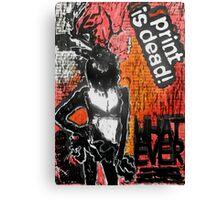 "'WHATEVER"" Woodcut Digital Print Canvas Print"