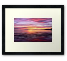 Golden Seam of a Sunset Framed Print