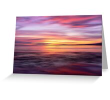 Golden Seam of a Sunset Greeting Card
