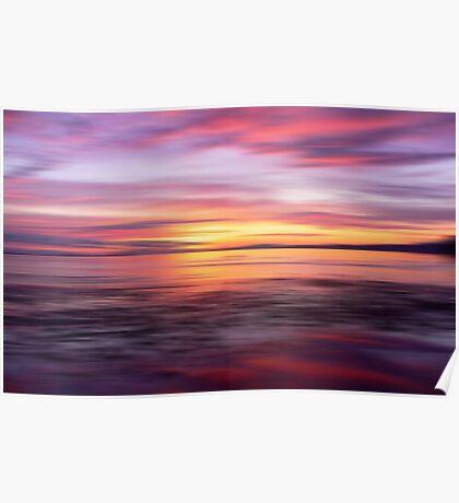 Golden Seam of a Sunset Poster