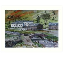 """""""Keeping the Home Fires Burning"""" - Watenlath, the Lake English District Art Print"""