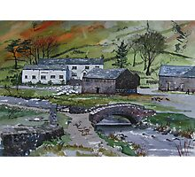 """Keeping the Home Fires Burning"" - Watenlath, the Lake English District Photographic Print"